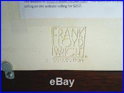 11-1/2 Oak framed Motawi Art Tile Frank Lloyd Wright MARCH BALLOONS EC
