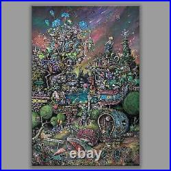 14x21 SPRING GREEN, graffiti tattoo street pop art frank Lloyd wright taliesin