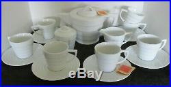 16 Pcs Frank Lloyd Wright Guggenheim By Henriksen 2003 Teapot Mug Saucer S&c