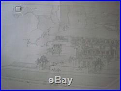 1911. Frank Lloyd Wright. Ernst Wasmuth Print.' Westcott House'