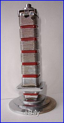 1940s FRANK LLOYD WRIGHT JOHNSON'S WAX RESEARCH TOWER RACINE WIS Table Lighter