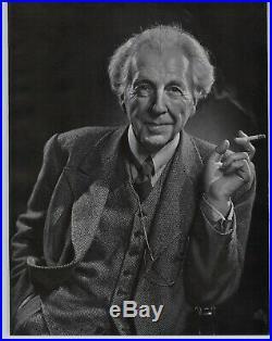 1946 Yousuf Karsh Original Frank Lloyd Wright Architect Portrait Photo Gravure