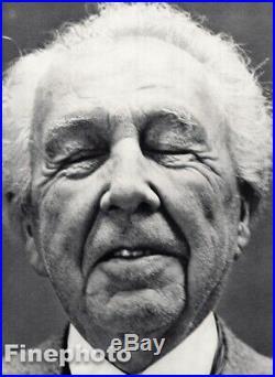 1949 Frank Lloyd Wright By Richard Avedon Architect Design Vintage Photo Gravure