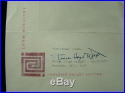 1957 Frank Lloyd Wright Typed & Signed Letter To Arthur Miller & Marilyn Monroe