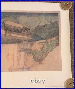 1984 Frank Lloyd Wright Foundation Print Fallingwater, Rolled, 24x36