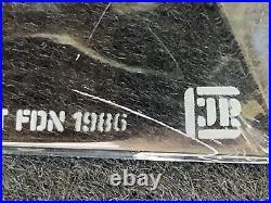 1986 TIFFANY & Co. FRANK LLOYD WRIGHT CRYSTAL CANDLESTICKS, 3 1/2