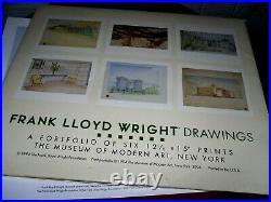 1994 Frank Lloyd Wright Drawings 6 Portfolio Prints Modern Art