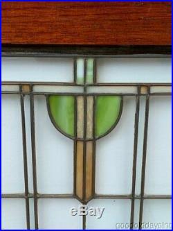 2 Antique Frank Lloyd Wright Prairie Style Oak Cabinet Doors Window Circa 1910