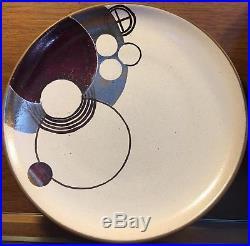 (4) Frank Lloyd Wright design, prototype plates by Heath Ceramics (1986-1988)