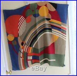 ART Designer Wear Frank Lloyd Wright 34 Square Silk MoMA Scarf FINE