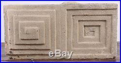 Authentic Museum Quality Frank Lloyd Wright Designed Textured Concrete Block