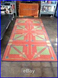 A Nice Size Of Vintage Art Deco Frank Lloyd Wright Rug Carpet 4' 5 X 8' 11
