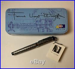 Acme FRANK LLOYD WRIGHT PEN Bricks Rollerball Black End Caps Retired Never used