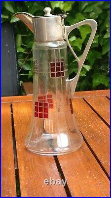 Aiguière Art nouveau jugendstil cristal verseuse Carafe DLG Frank Lloyd Wright