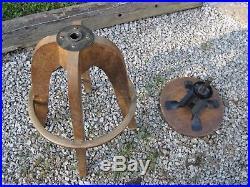 Antique Steampunk WOODEN Adjustable Drafting Stool Frank Lloyd Wright Era B8714