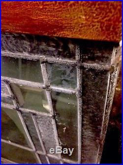 Architectural Deco Geometric Heavy Bevel & Frost Window Frank Lloyd Wright Style