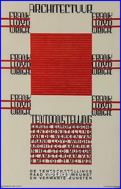 Architectuur Frank Lloyd Wright Tentoonstelling Poster Fine Art Lithograph S2