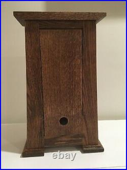 Arts & Crafts Clock Rift Oak, Motawi Painted Tile, Frank Lloyd Wright
