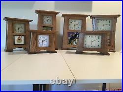 Arts & Crafts Mantel Clock, Motawi Tile, Frank Lloyd Wright, Craftsman Clock