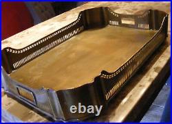 Arts & Crafts Mission Desk Organizer Brass Tray Large Frank Lloyd Wright 26x17