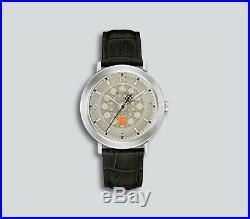 Authentic Bulova Frank Lloyd Wright Black Leather Strap Watch 96A164