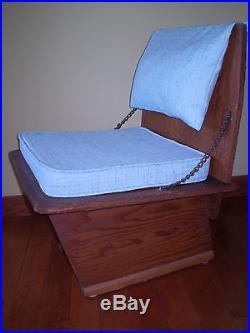 Authentic MID Century Frank Lloyd Wright Unitarian Church Chair 1951 Very Rare