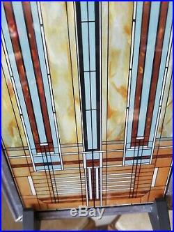 Authorized Frank Lloyd Wright Foundation Bradley Skylight Stained Glass Window