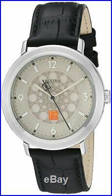 BRAND NEW Bulova Men's Frank Lloyd Wright Brown Band Silver Dial Watch 96A164