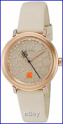 BRAND NEW Bulova Women's Frank Lloyd Wright Rose Gold Watch 98L216
