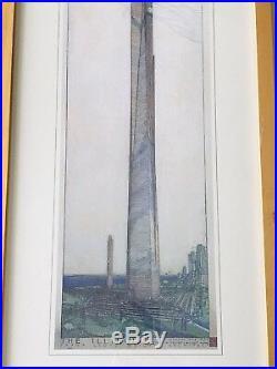 Big 37 Frank Lloyd Wright Architecture Poster Phoenix AZ ILLINOIS Cantilever