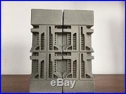 Bookends Frank Lloyd Wright Era Design Vintage MID Century Modern