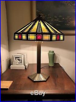 Bradley & Hubbard Lamp - Arts & Crafts / Frank Lloyd Wright / Prairie Style
