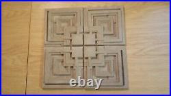 Brutalist Frank Lloyd Wright concrete tile from Ennis house set of 4