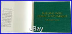 Building With Frank Lloyd Wright by Herbert Jacobs Hardcover 1978 SIU press