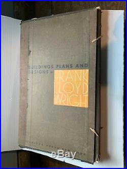 Buildings Plans and Designs By Frank Lloyd Wright (RARE!)