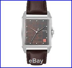 Bulova 96A223 Frank Lloyd Wright Watch Mens Unisex Black Leather Band