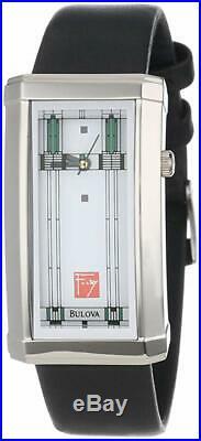 Bulova 96L63 Women's Frank Lloyd Wright Leather Strap 24x38mm Watch