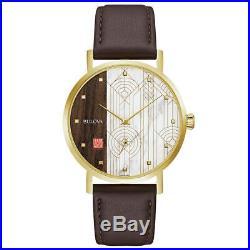 Bulova 97A141 Men's Frank Lloyd Wright Brown Strap Quartz Watch