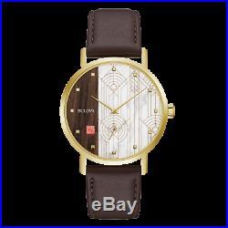Bulova 97A141 Men's Frank Lloyd Wright Leather Band 39mm Watch