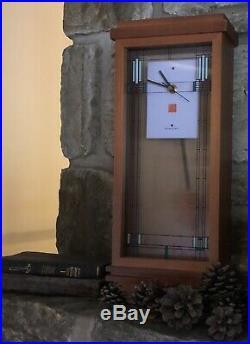 Bulova B1839 Willits Frank Lloyd Wright Mantel Clock $225