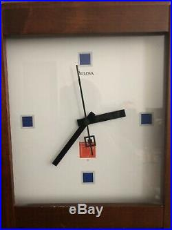 Bulova C3321 Frank Lloyd Wright Coonley Playhouse Wall Mantle Clock