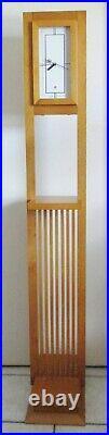 Bulova Frank Lloyd Wright Sherman Booth Floor Clock Wood Clock Model C3326