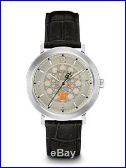 Bulova Frank Lloyd Wright Watch 96A164 Silver with Black Leather Strap