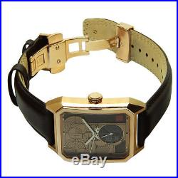 Bulova Men's Frank Lloyd Wright Limited Edition Brown Leather Band Watch 97A135