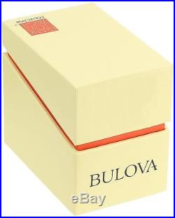 Bulova Mens Quartz Stainless Steel Frank Lloyd Wright Watch New In Box