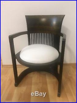 Cassina Frank Lloyd Wright 606 Barrel Chair Stuhl Armlehnstuhl Sessel Leder