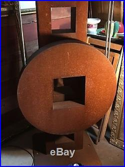 Dale Rogers Pendulum Sculpture with Arts and Crafts Frank Lloyd Wright Vibe
