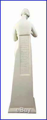 Ebros Polyresin Frank Lloyd Wright Architecture Art Lady Flower Statue 18.25H