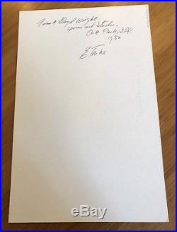 Edmund Teske signed original B&W photograph Frank Lloyd Wright's studio 1982