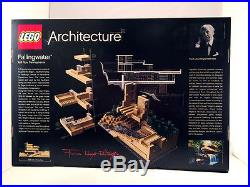 FALLINGWATER Frank Lloyd Wright New LEGO Architecture Set 21005 RARE Retired NIB